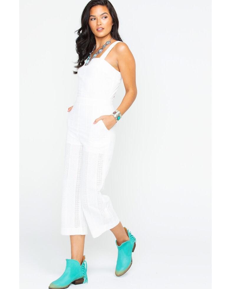 Freeway Apparel Women's Wide Leg Jumper, White, hi-res