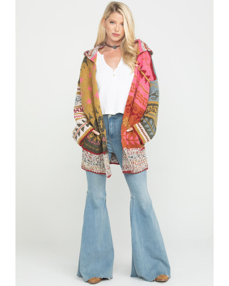 Free People Women's Multi-Color Canyon Vibes Cardigan, Multi, hi-res