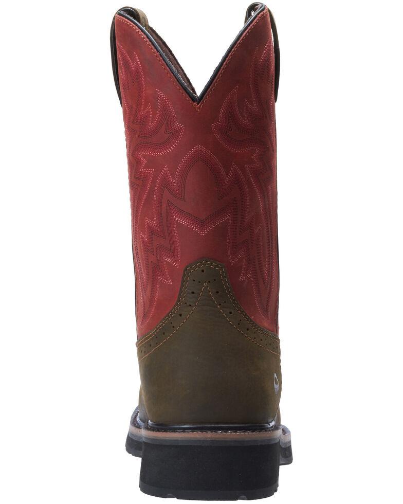 Wolverine Men's Rancher Western Work Boots - Steel Toe, Brown, hi-res