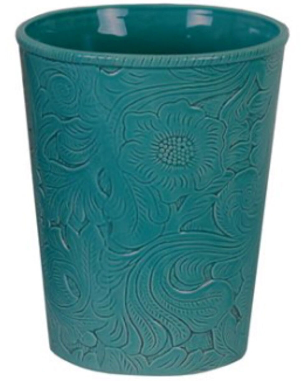 HiEnd Accents Turquoise Savannah Waste Basket , Turquoise, hi-res