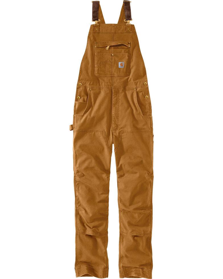 Carhartt Men's Rugged Flex Rigby Bib Overalls, Pecan, hi-res