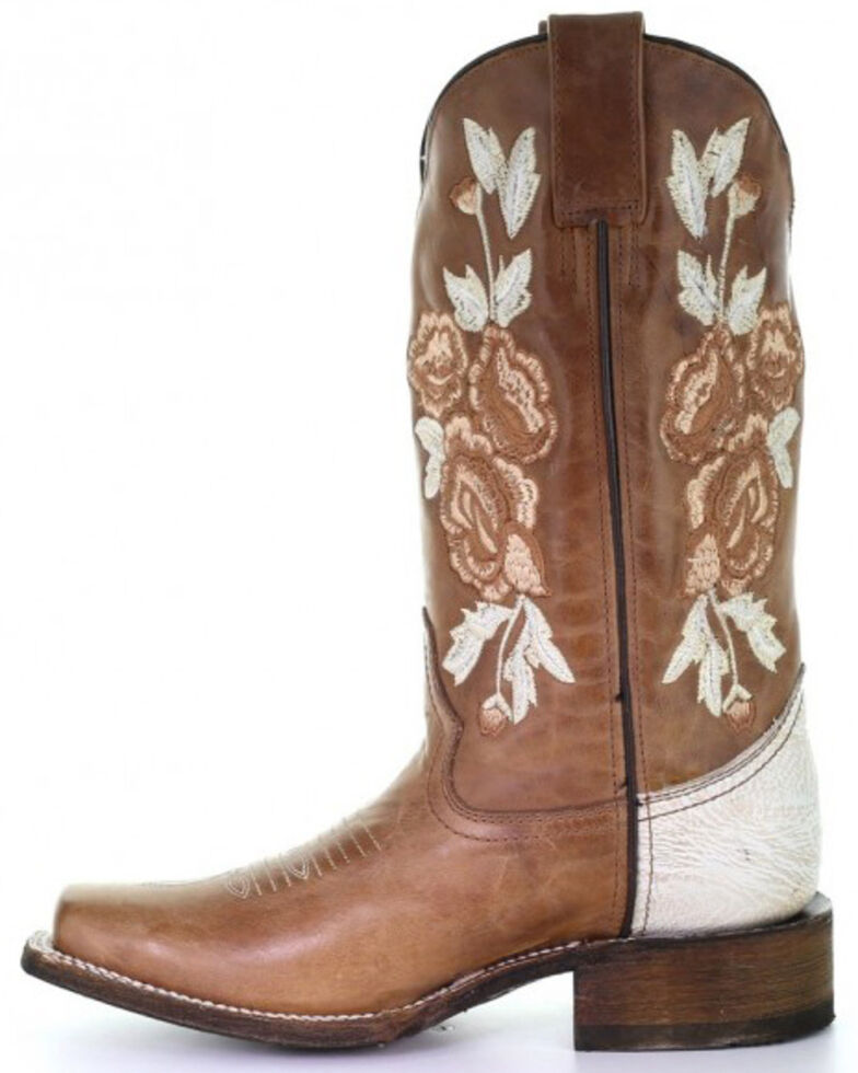 Corral Women's Honey Floral Western Boots - Square Toe, , hi-res