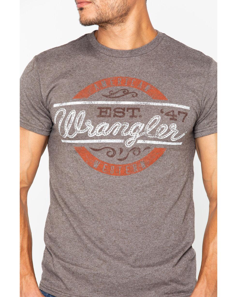 Wrangler Men's Est. 47 Printed T-Shirt , Brown, hi-res