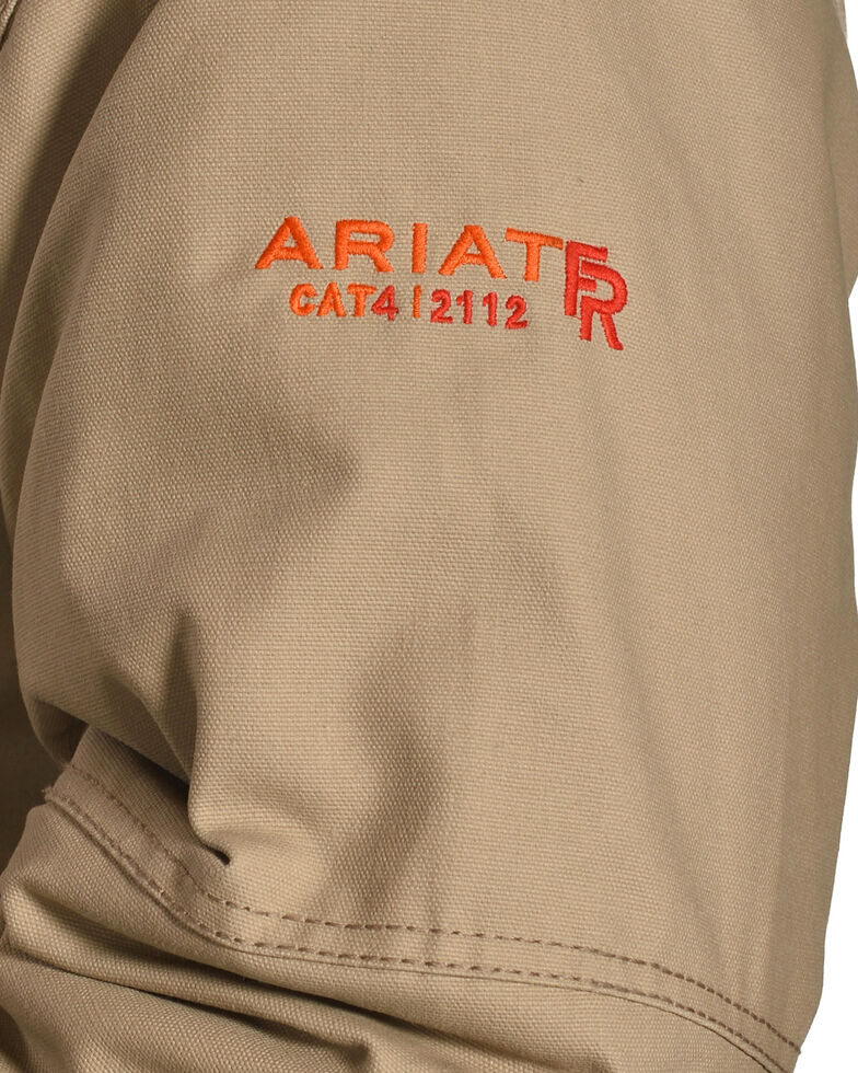 Ariat Men's FR Lined Workhorse Work Jacket - Tall, Beige/khaki, hi-res