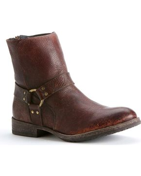 Frye Men's Dean Harness Boots, Dark Brown, hi-res