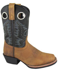 Smoky Mountain Boys' Mesa Western Boots - Square Toe, Brown, hi-res