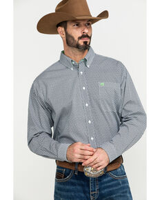 Cinch Men's Multi Small Geo Print Weave Long Sleeve Western Shirt , Multi, hi-res
