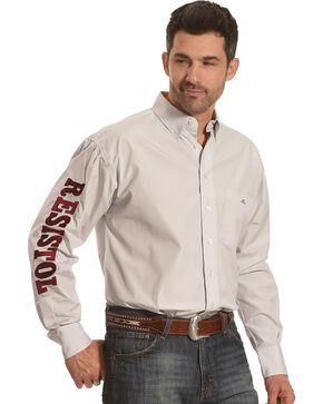 Resistol Men's White Stockbridge Marketing Snap Shirt , White, hi-res