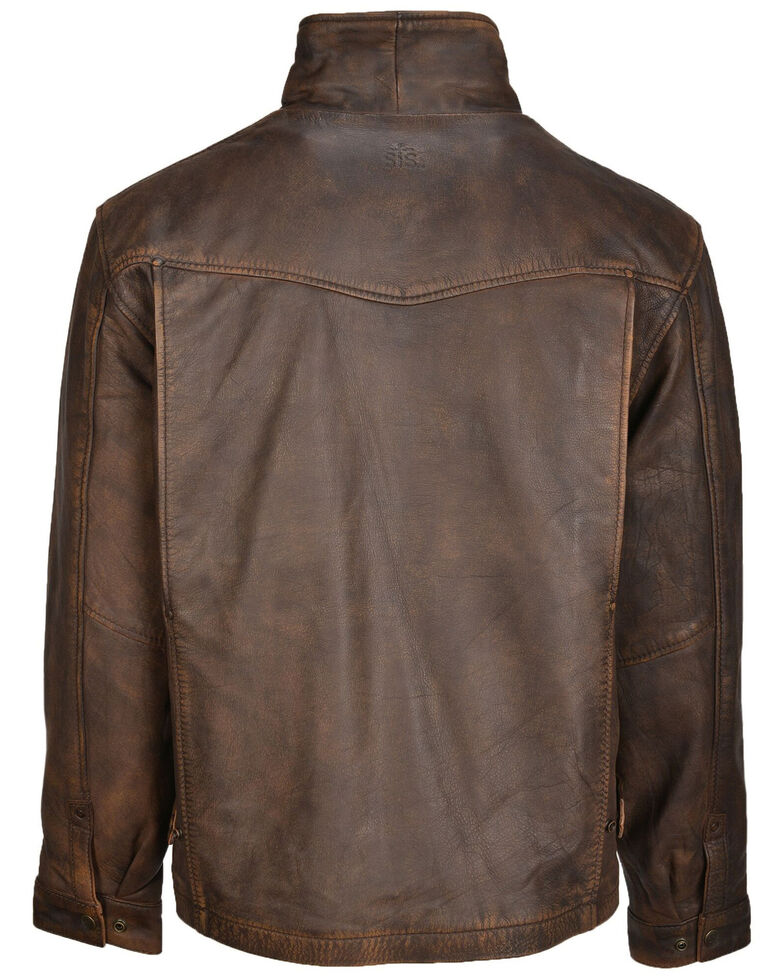 STS Ranchwear Boys' Brown Youth Rifleman Leather Jacket , Brown, hi-res