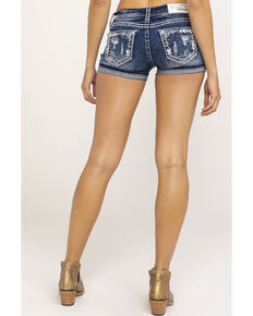 Grace in LA Women's Medium Bling Shorts, Blue, hi-res