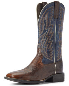 Ariat Men's Dynamic Brown Western Boots - Wide Square Toe, Brown, hi-res
