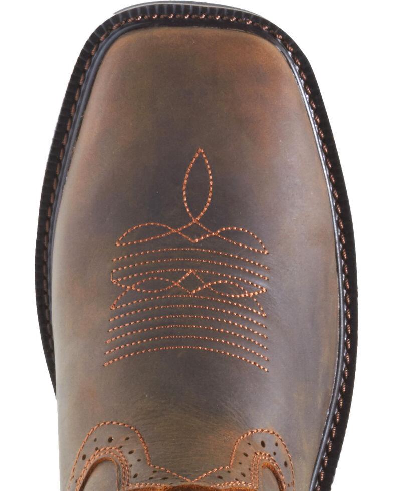 Wolverine Men's Rancher Wellington Work Boots - Steel Toe, Dark Brown, hi-res