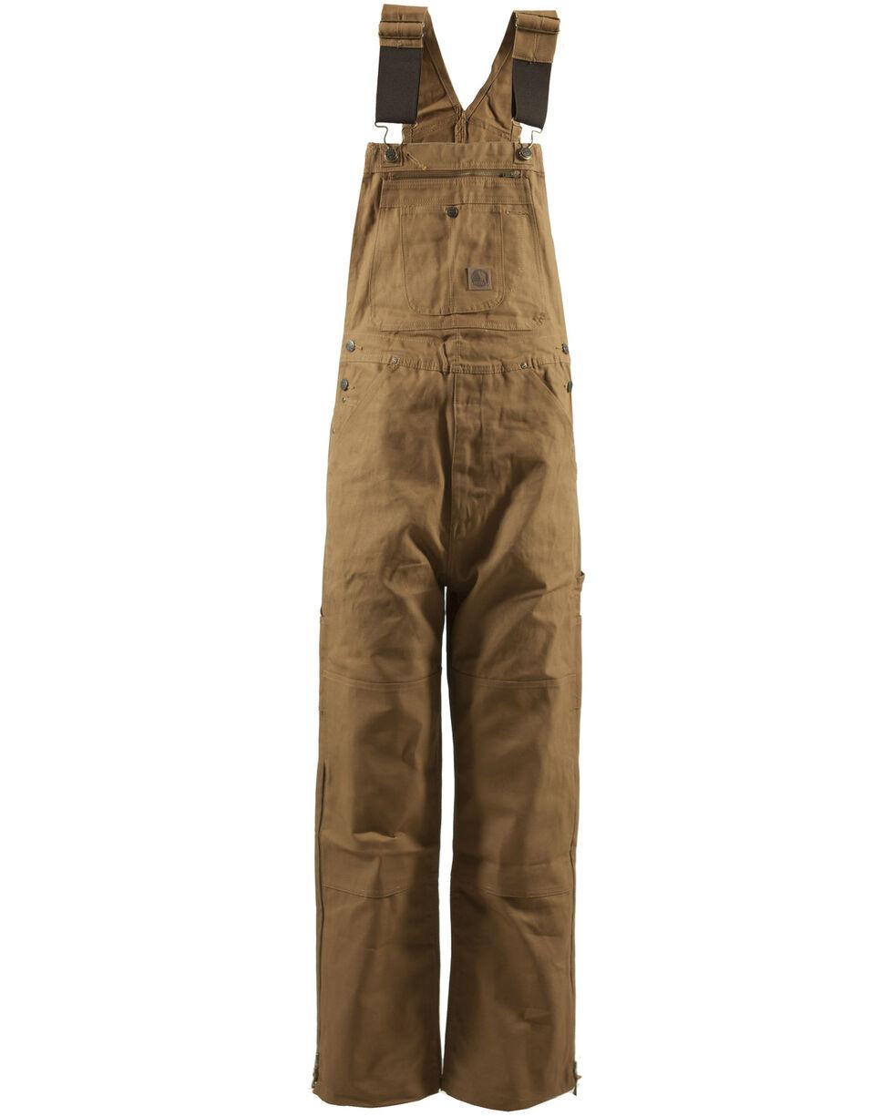 Berne Men's Original Unlined Duck Bib Overalls - Tall, Brown, hi-res