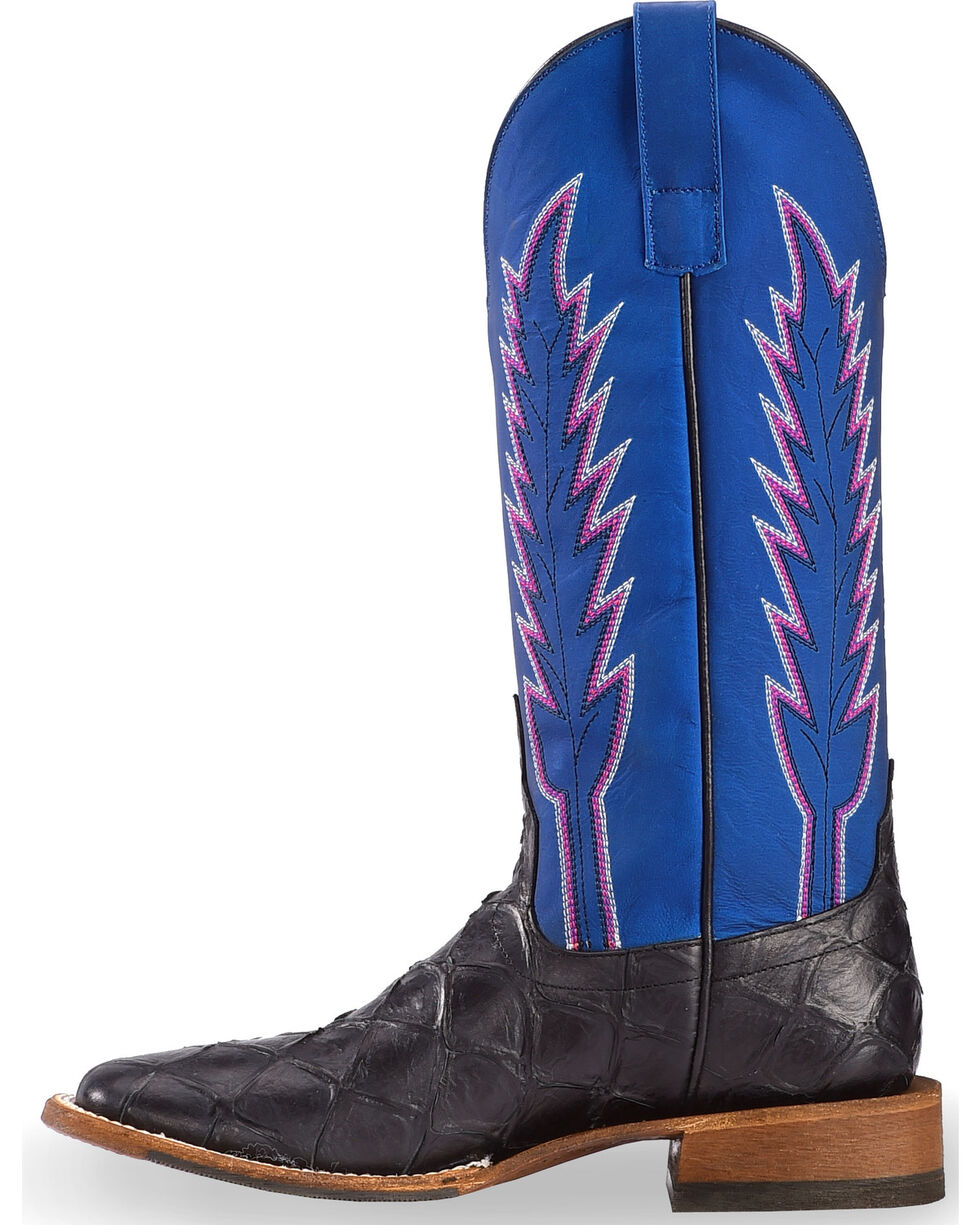 Macie Bean Women's Catch Ya Later Filet of Fish Boots - Square Toe , Brown, hi-res