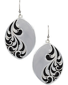 Montana Silversmiths A Night's Breeze Earrings, Silver, hi-res