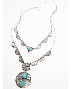 Idyllwind Women's Southwest Medallion Necklace, Silver, hi-res