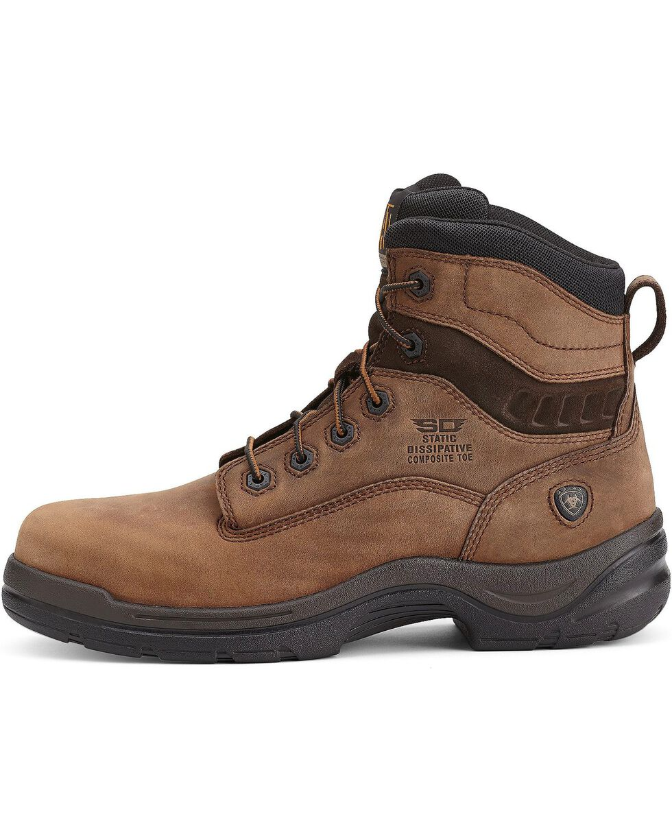 "Ariat Men's Flexpro® 6"" SD CT Work Boots, Brown, hi-res"