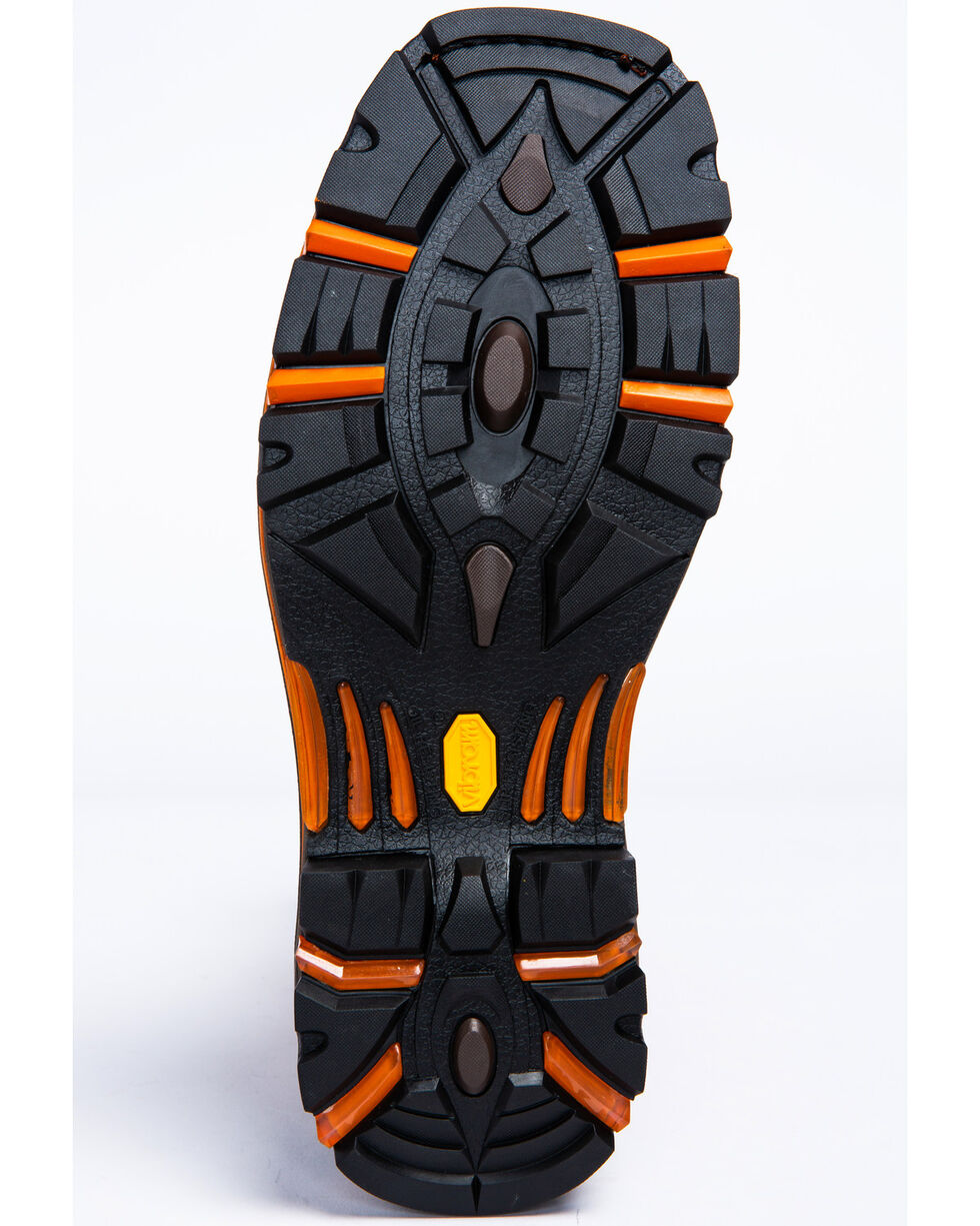 Cody James Men's Decimator Skull Western Work Boots - Composite Toe, Brown, hi-res