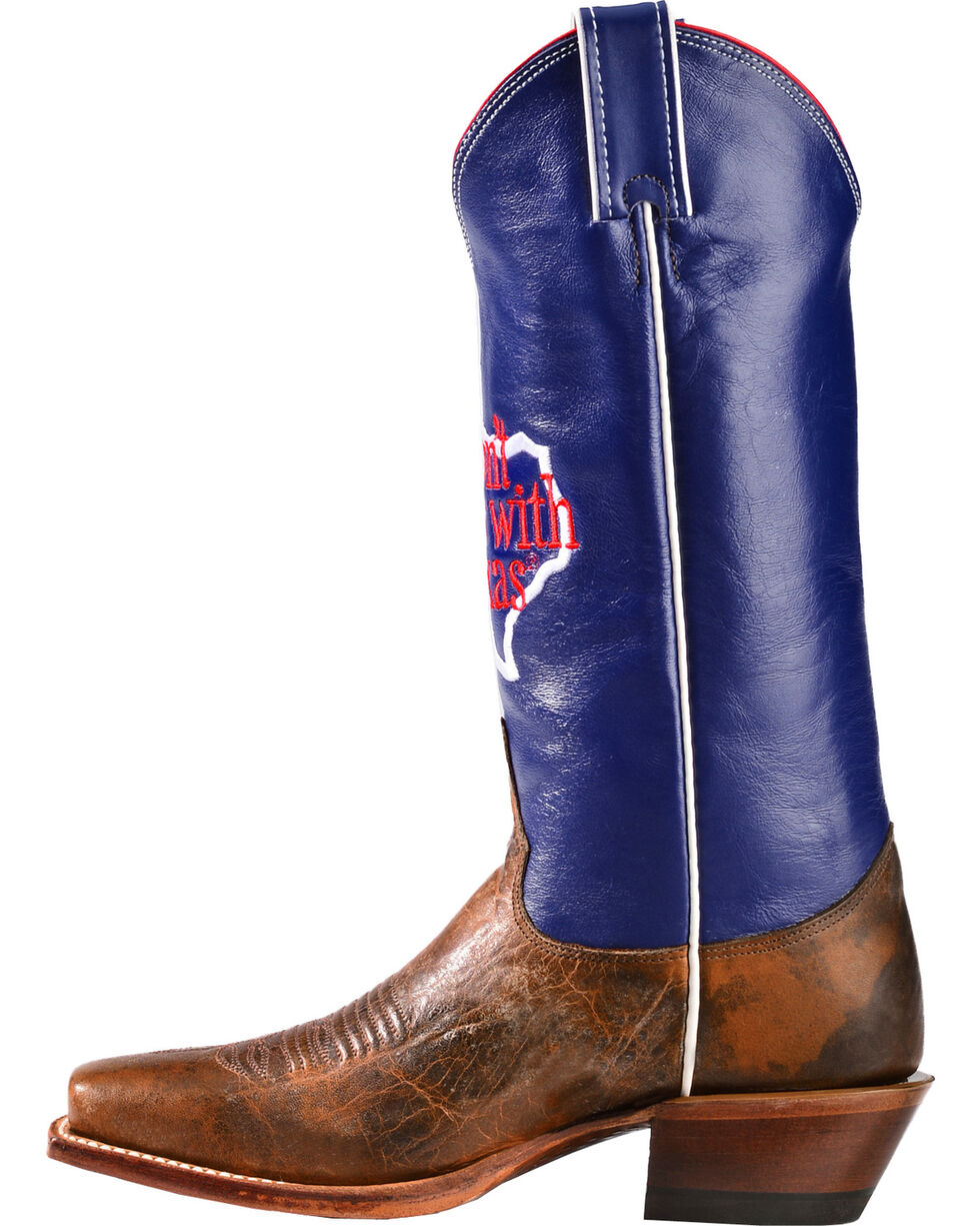 """Justin Women's """"Don't Mess With Texas"""" Western Boots, Cognac, hi-res"""