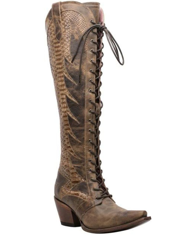 Lane Women's Trail Boss Western Boots - Snip Toe, Brown, hi-res