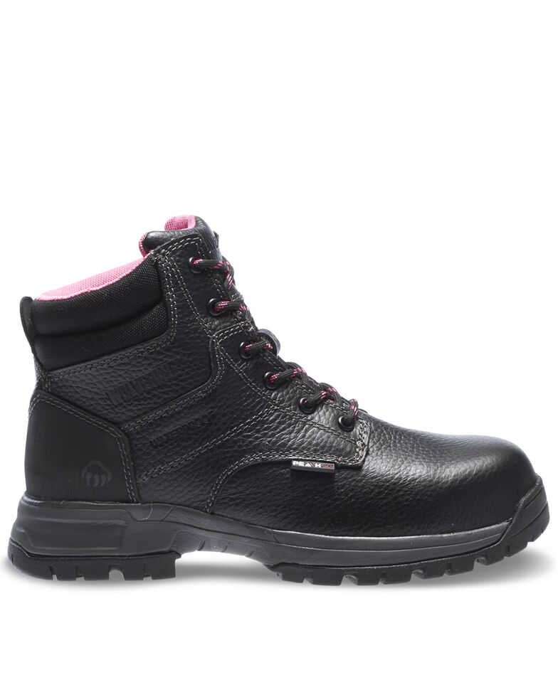 Wolverine Women's Piper Waterproof Work Boots - Composite Toe, Black, hi-res