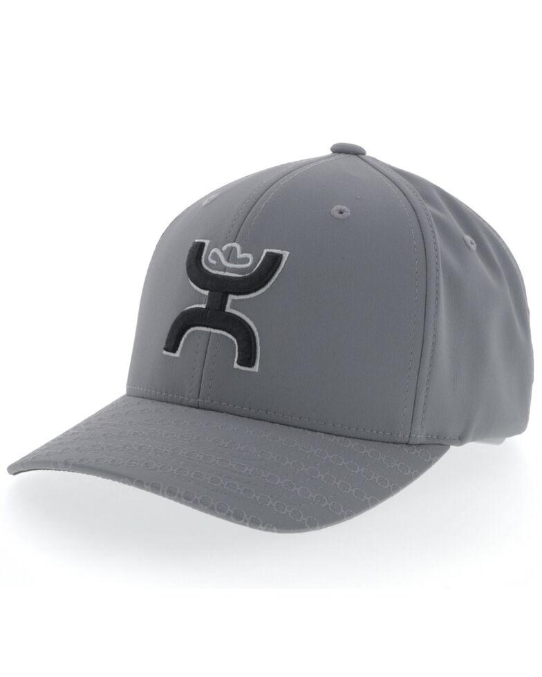 HOOey Men's Grey Solo III Flex Fit Ball Cap , Grey, hi-res