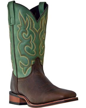 Laredo Men's Lodi Square Toe Western Boots, Brown, hi-res