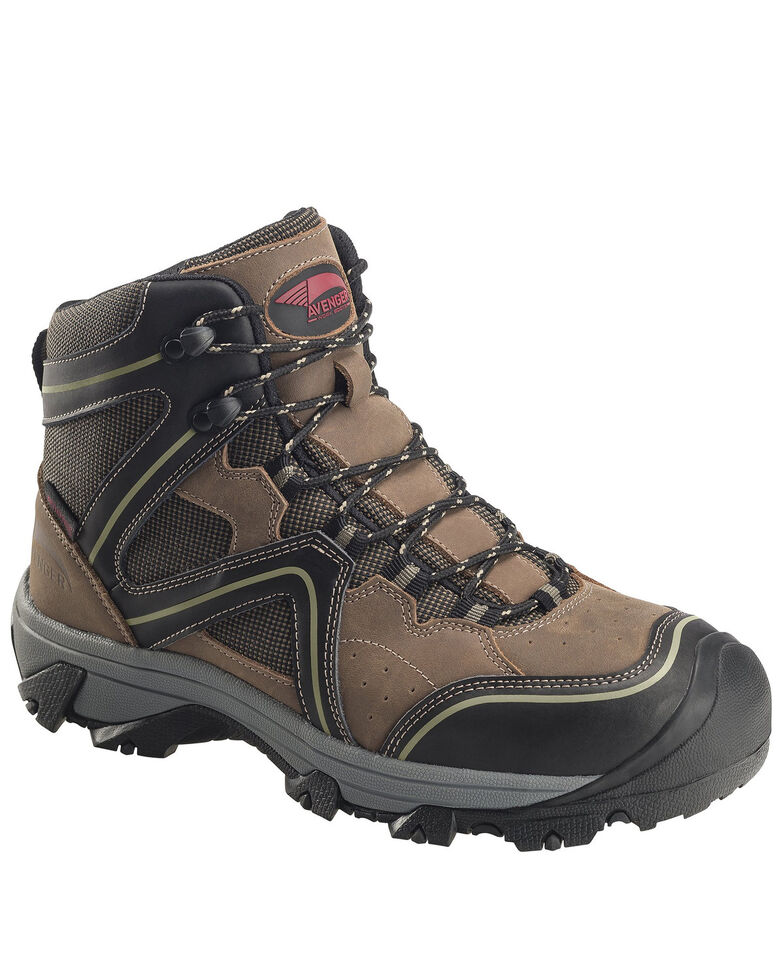 Avenger Men's Crosscut Waterproof Work Boots - Soft Toe, Brown, hi-res