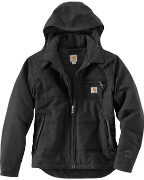 Carhartt Men's Quick Duck Livingston Jacket, Black, hi-res