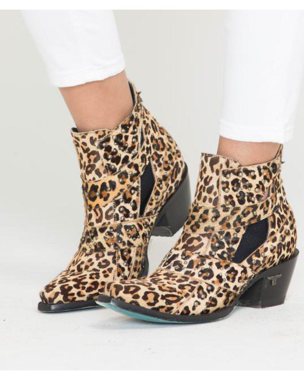Lane Women's Studs & Straps Cheetah Booties - Snip Toe , Cheetah, hi-res