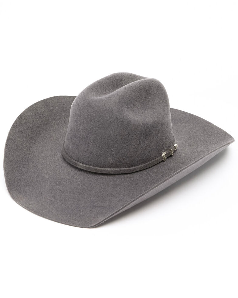 Cody James Boys' Big Horn Cowboy Hat, Grey, hi-res