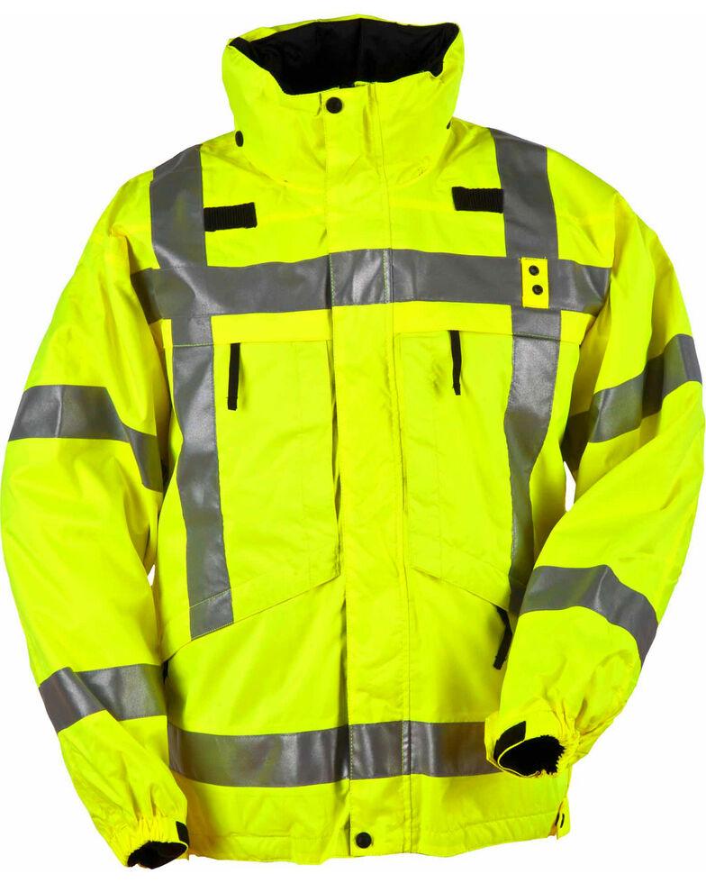 5.11 Tactical Men's Reversible High-Visibility Parka, Yellow, hi-res