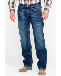 Ariat Men's M3 Ford Truckee Dark Wash Jeans , Blue, hi-res
