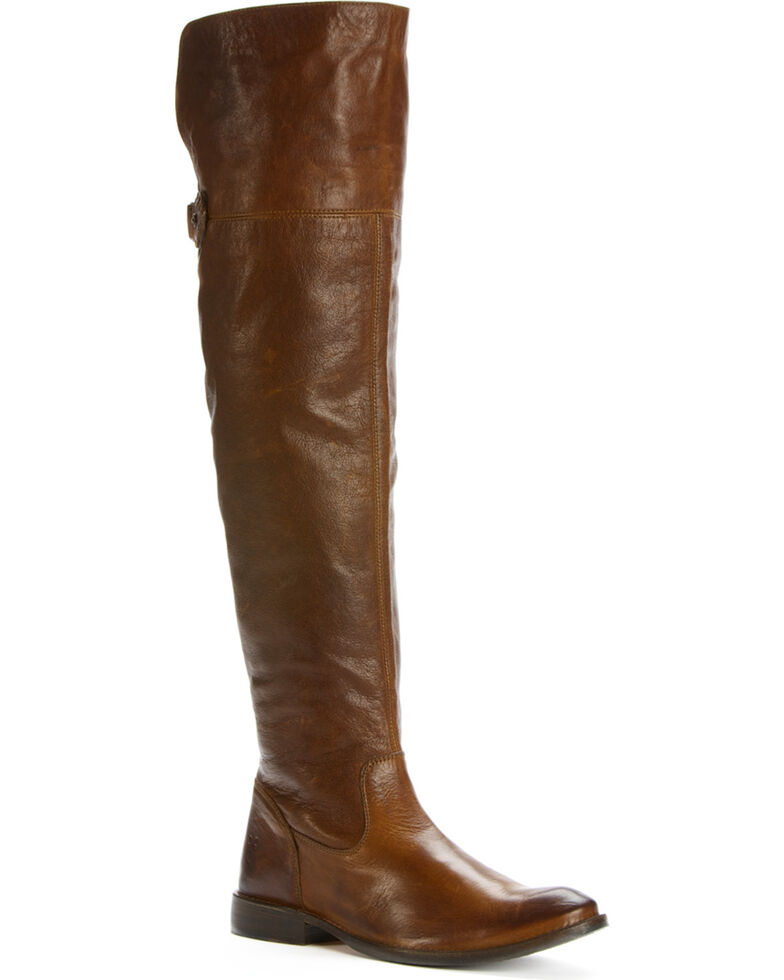 Frye Women's Shirley Over The Knee Riding Boots - Round Toe, Brown, hi-res