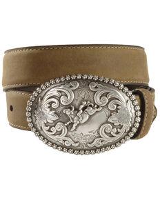 Nocona Belt Co. Youth Bull Rider Belt, Brown, hi-res