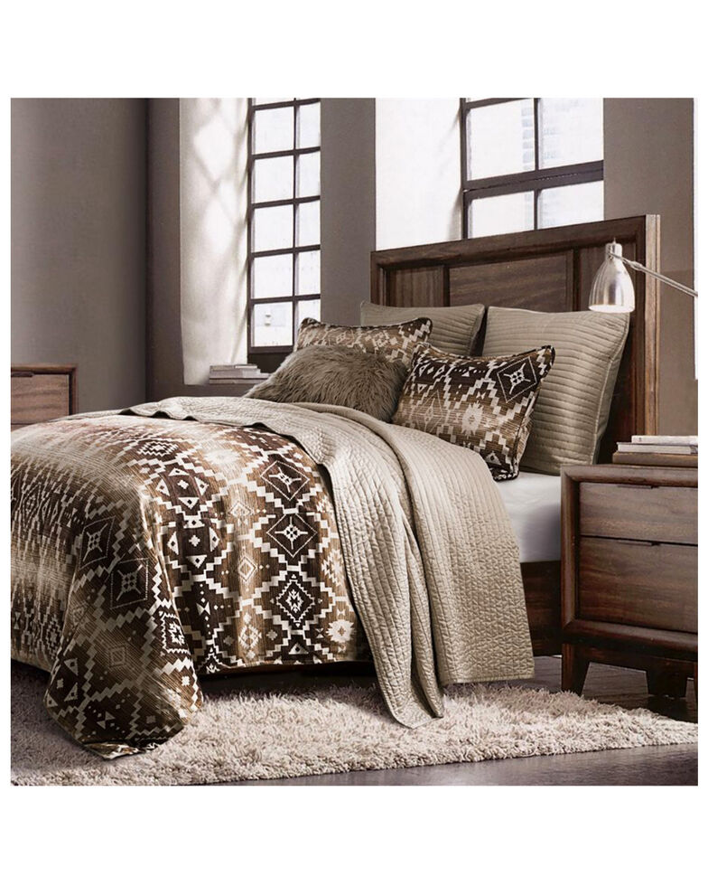 HiEnd Accents Twin Chalet Aztec Comforter Set , Multi, hi-res