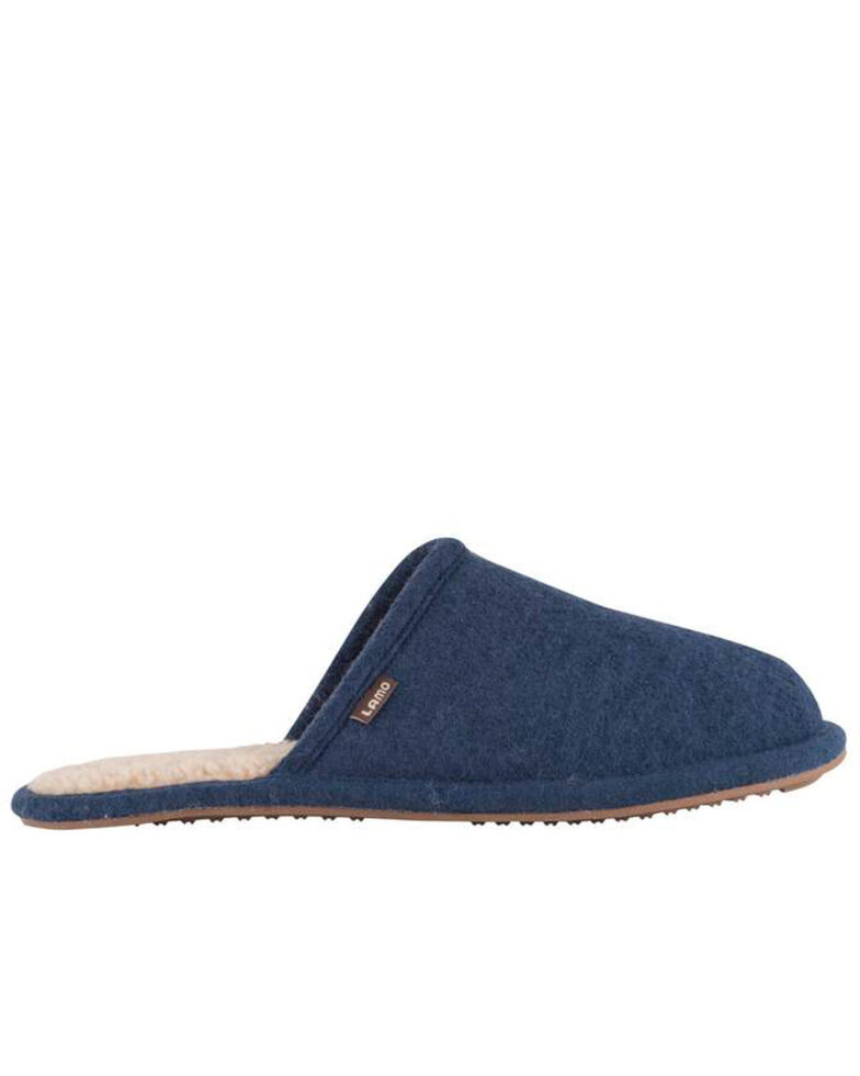 Lamo Footwear Men's Landon Wool Scuffs, Navy, hi-res
