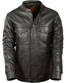 Milwaukee Leather Men's Black Club Style Shirt Jacket - Big 4X , Black, hi-res