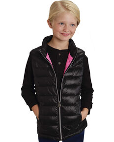 Roper RangeGear Girls' Crushable Vest , Black, hi-res