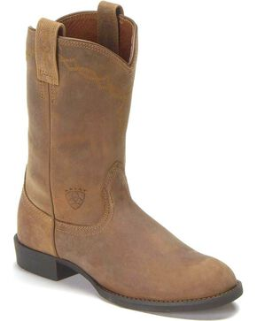 Ariat Women's Heritage Roper Western Boots, Distressed, hi-res