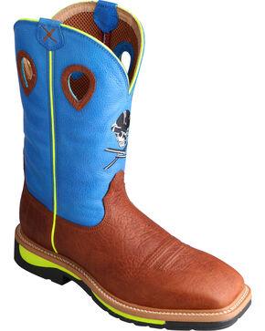 Twisted X HOOey Men's Skull Western Boots, Brown, hi-res