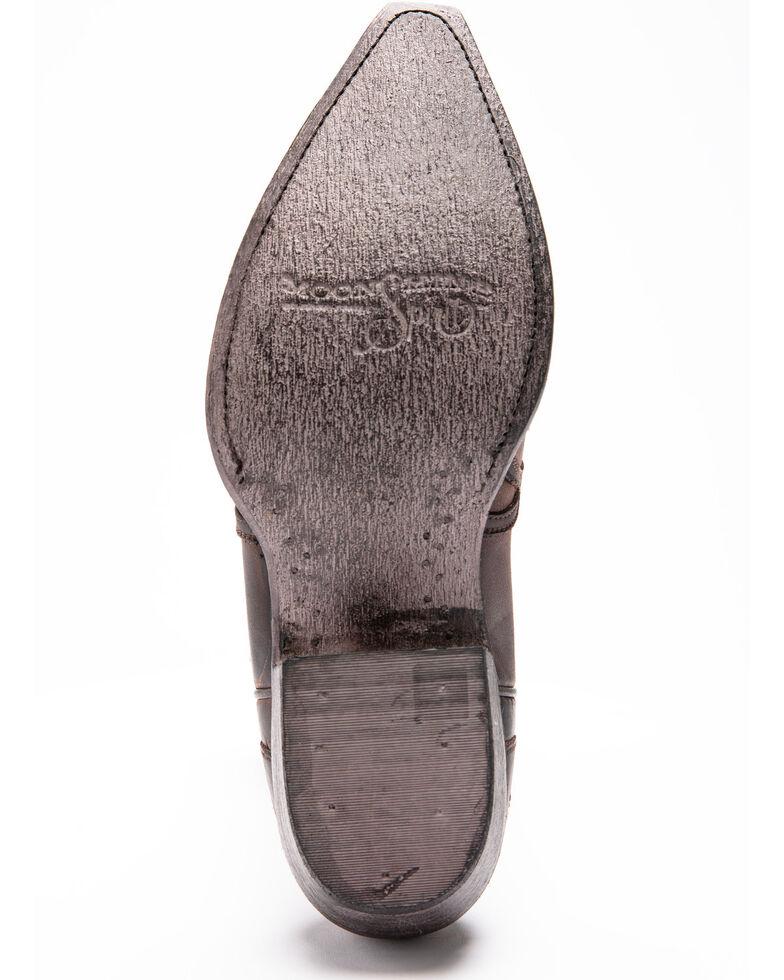 Moonshine Spirit Men's Mad Dog Bone Overlay Western Boots - Snip Toe, Brown, hi-res