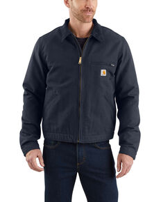 Carhartt Men's Duck Detroit Work Jacket , Navy, hi-res