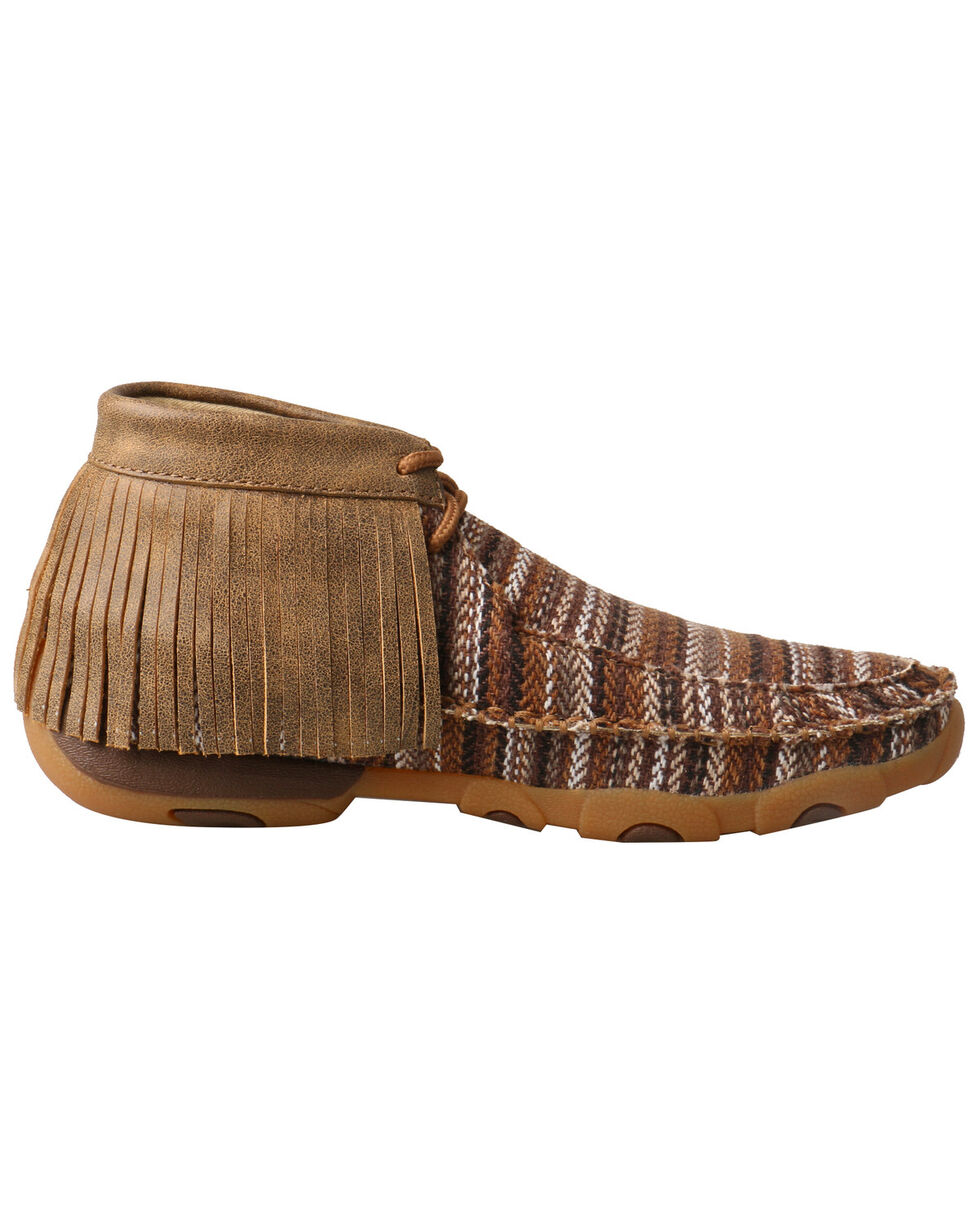 Twisted X Women's Driving Moccasin Shoes - Moc Toe, Brown, hi-res