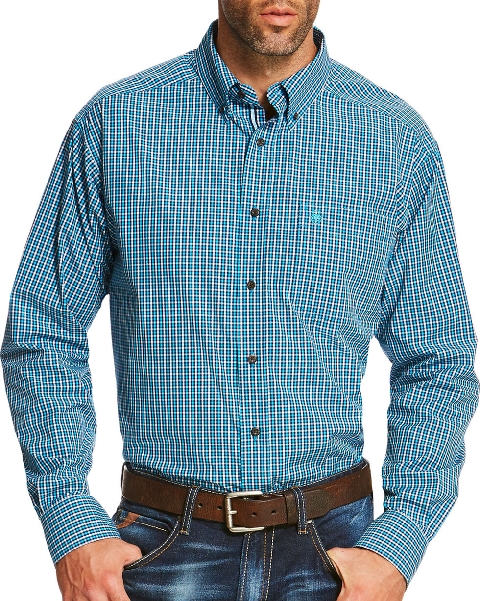Ariat Men's Blue Reed Long Sleeve Shirt  , , hi-res
