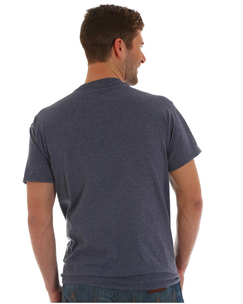 Wrangler Men's Breaking Waves Screen Print T-Shirt, Heather Blue, hi-res