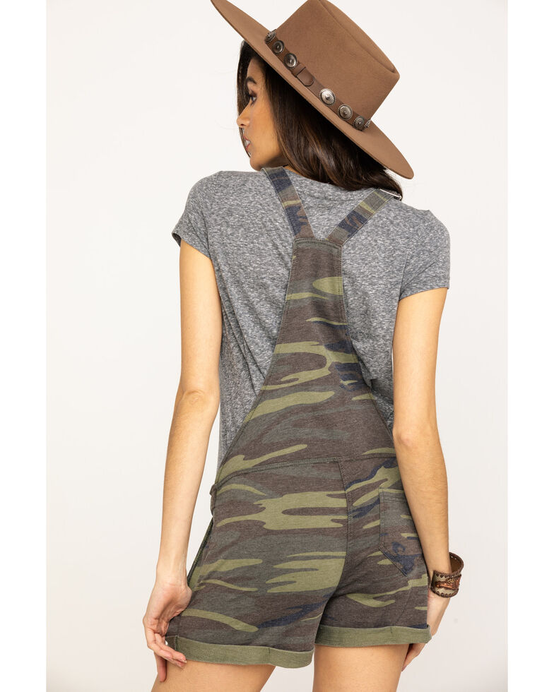 Z Supply Women's Camo Knit Short Overalls, Camouflage, hi-res