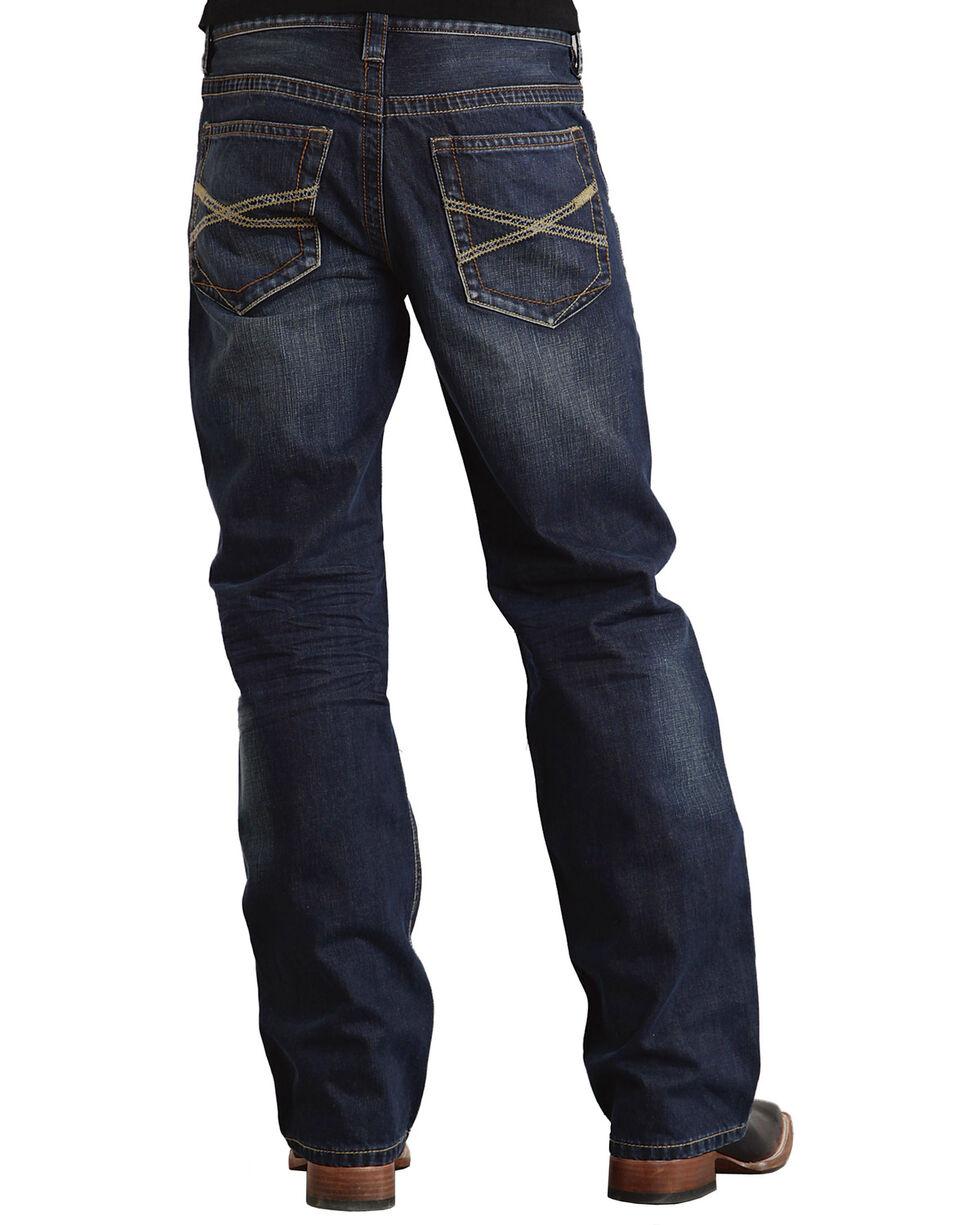 Stetson Men's Premium Modern Fit Boot Cut Jeans, Dark Stone, hi-res