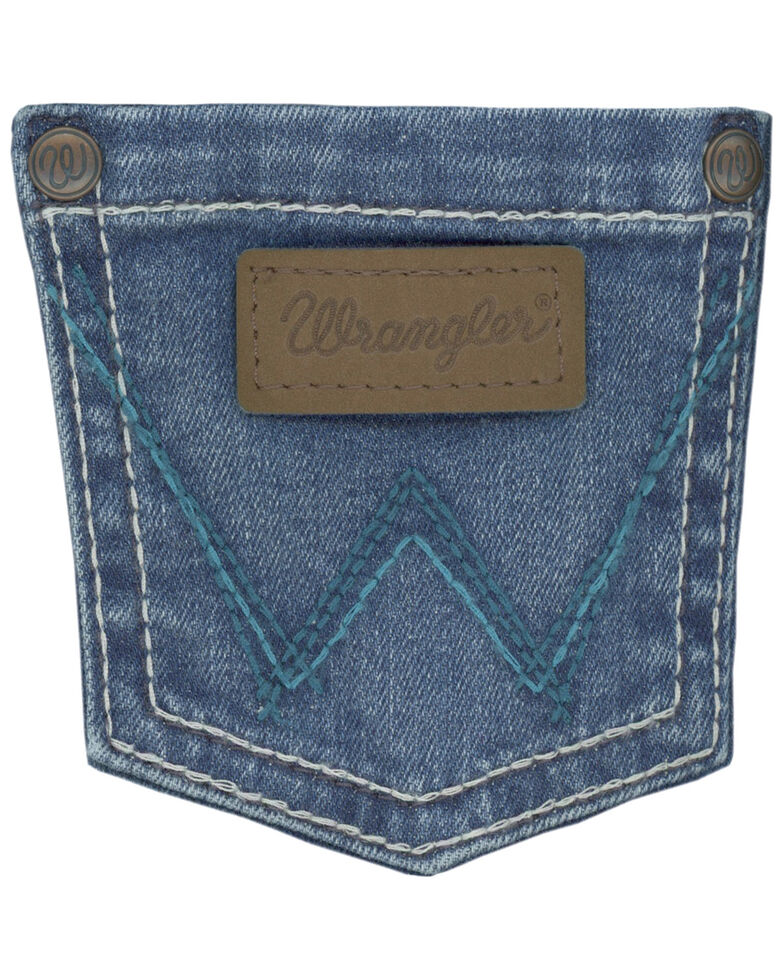 Wrangler Girls' Medium Wash Cathleen Bootcut Jeans  , Blue, hi-res