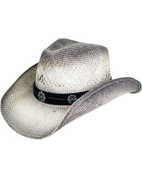 Peter Grimm Women's Grey Cora Cowgirl Hat , Grey, hi-res